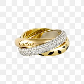 Jewelry Image - Cartier Ring Love Bracelet Colored Gold Diamond PNG