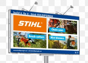 Chainsaw - Air Filter Stihl Chainsaw Display Advertising PNG