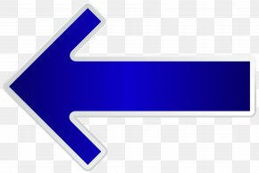 Arrow Blue Left Transparent Clip Art Image - Line Brand Angle Logo PNG