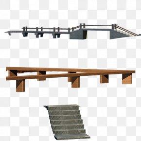 Stairs Wood Bridge - Timber Bridge Wood Icon PNG