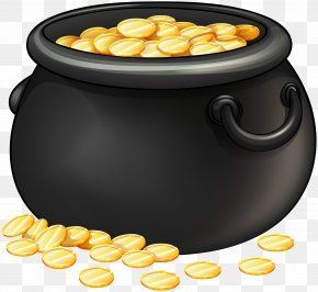 Black Pot Of Gold Clip Art - Drawing Clip Art PNG