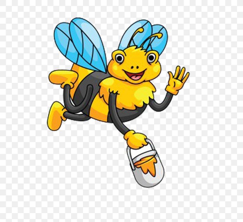 Honey Bee Clip Art, PNG, 750x750px, Bee, Art, Cartoon, Drawing, Honey Bee Download Free