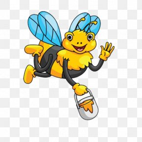 Holding A Honey Bee - Honey Bee Clip Art PNG