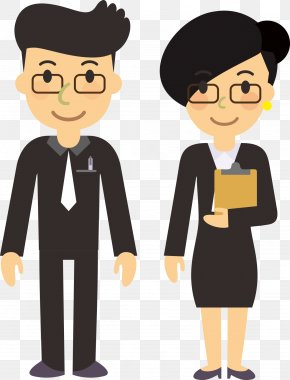 Flattened Characters Men And Women Standing Cartoon Style - Cartoon Animation Character PNG