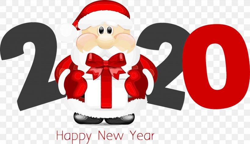 Christmas 2020 Png Santa Claus, PNG, 2999x1733px, 2020, Happy New Year 2020, Cartoon