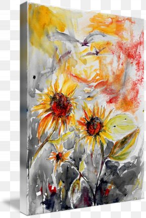 Watercolor Summer - Watercolor Painting Modern Art Still Life Photography Acrylic Paint PNG