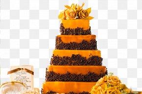 Yellow Wedding Cake Celebration Creative Image - Wedding Cake Torte Wedding Reception PNG
