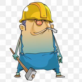 A Man With A Hammer - Construction Worker Laborer PNG