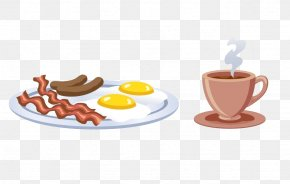 Coffee And Breakfast - Coffee Breakfast Fried Egg Muffin PNG