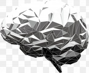 Vector Human Brain Model - Human Brain Abstract Illustration PNG