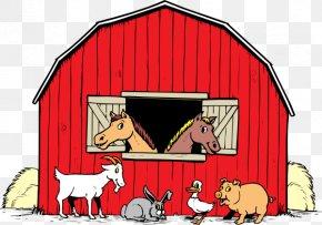 Barnyard Cliparts - Black And White Farm Barn Clip Art PNG