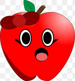 Cartoon Apple - Apple Cartoon Clip Art PNG