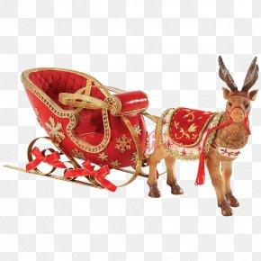 Santa Claus And Reindeer - Santa Claus's Reindeer Santa Claus's Reindeer Christmas PNG