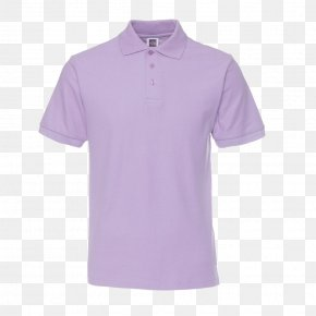 Purple Short Sleeve T-shirt - Polo Shirt T-shirt Sleeve Collar PNG