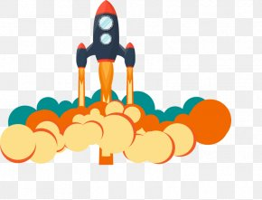 Vector Cartoon Rocket Image - Rocket Flight Download Icon PNG