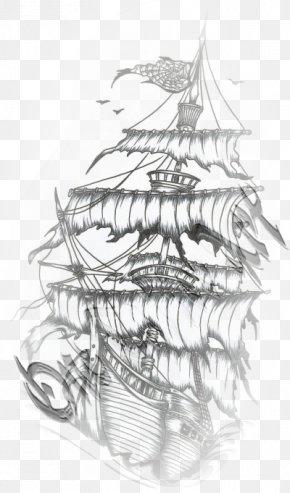 Old School Tatoo - Old School (tattoo) Drawing Boat Piracy PNG