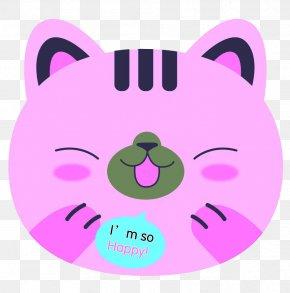 Pink Cat Pattern - Pink Cat Kitten PNG
