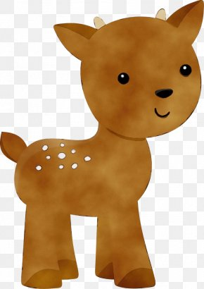 Fawn Stuffed Toy - Animal Figure Toy Stuffed Toy Fawn PNG