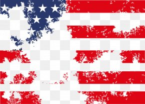 Abstract American Flag Pattern - Flag Of The United States National Flag Human Migration PNG