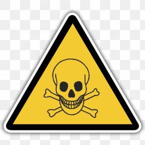 Skull - Skull And Crossbones Hazard Symbol Human Skull Symbolism Warning Sign PNG
