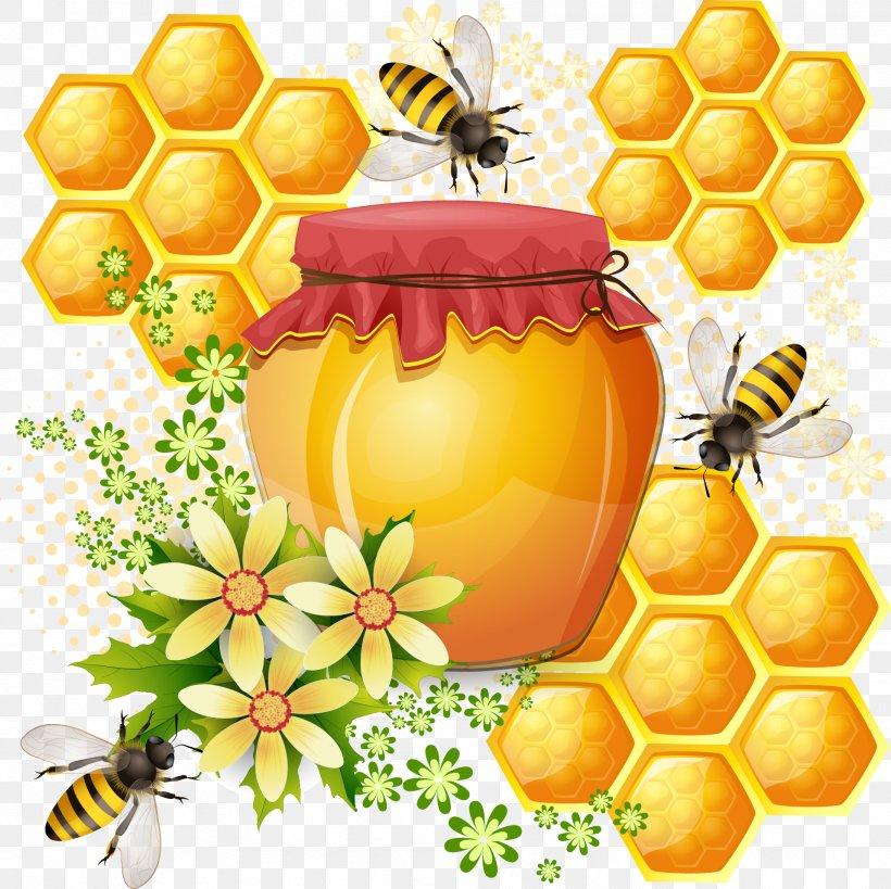Western Honey Bee Honeycomb, PNG, 1915x1913px, Bee, Bee Pollen, Beehive, Beeswax, Flower Download Free