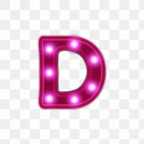 Red Neon Alphabet D - Neon Lighting Letter Red PNG