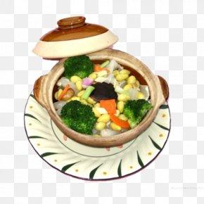 Broccoli Corn Pot - Broccoli Vegetarian Cuisine Cauliflower Cabbage PNG