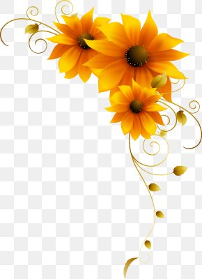 Sunflower Yellow Flower Pattern - Flower Icon PNG