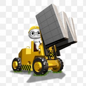 Free Yellow Bulldozer To Pull Material - Forklift Download PNG
