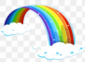 Rainbow With Clouds PNG Clipart - Rainbow Reese's Peanut Butter Cups Light Color Illustration PNG