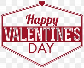 Happy Valentine's Day Text Decor Transparent PNG Clip Art Image - Valentine's Day Clip Art PNG