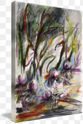 Watercolor Garlic - Watercolor Painting Modern Art Acrylic Paint Tree PNG