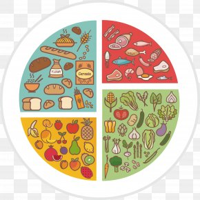 Healthy Breakfast Tray Vector - Healthy Diet Food Meal Infographic PNG