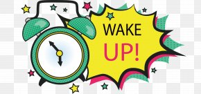 Green Alarm Explosive Sticker - Alarm Clock Illustration PNG