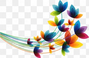 Abstract Fantasy Colorful Leaves - Flower Spring Euclidean Vector Clip Art PNG
