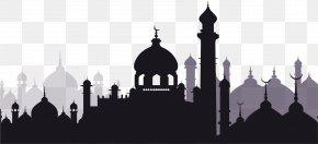 The Black Castle Of Eid Al Fitr - Eid Al-Adha Eid Mubarak Eid Al-Fitr Ramadan Mosque PNG