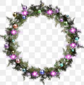 Garland - Christmas Garland Wreath Clip Art PNG