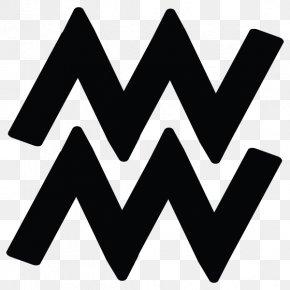 Aquarius - Monochrome Drop Shadow Color Black And White PNG