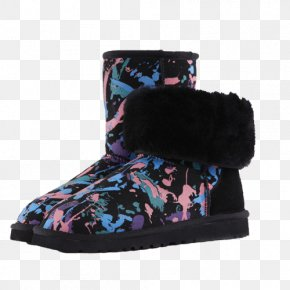 Snow Boots - Snow Boot Shoe Fur Purple PNG