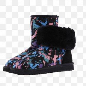 Snow Boots - Snow Boot Shoe Fur Purple PNG
