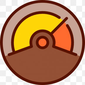 Brown Steering Wheel - Thermometer Icon PNG