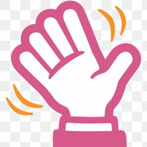 Goodbye Hand - Wave Emoji Hand SMS Clip Art PNG