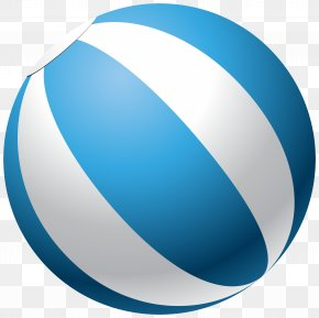 Blue Beach Ball Transparent Clip Art Image - Beach Volleyball Clip Art PNG