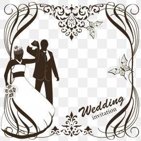 Wedding Greeting Card Vector Material - Wedding Invitation Clip Art PNG