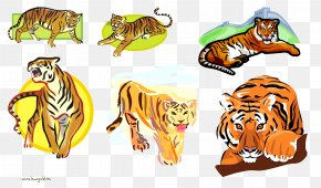 Cartoon Tiger - Tiger Lion Desktop Wallpaper Clip Art PNG