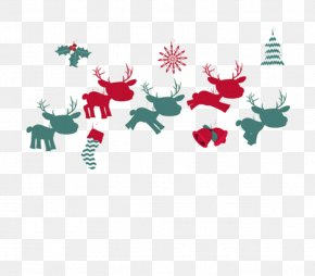 Deer - Christmas New Years Day Greeting Card PNG