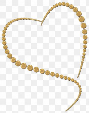 GOLD HEART - Gold Heart Jewellery Necklace Clip Art PNG