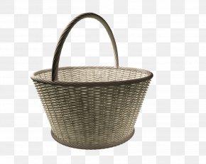 Wicker - Wicker Basket Easter Bunny Easter Egg PNG