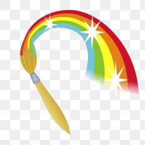 Rainbow - Paintbrush Painting Clip Art PNG