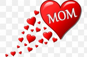 Mother's Day - Mother's Day Child Heart Clip Art PNG